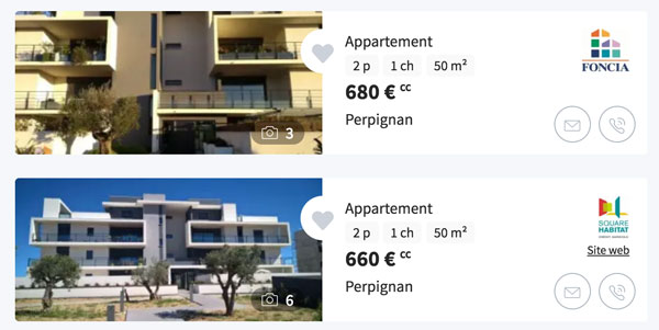 Détermine le montant des loyers perçus selon ta stratégie locative