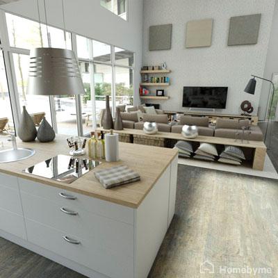 Exemple de rendus réalistes d'un plan 3D créé avec Home By Me