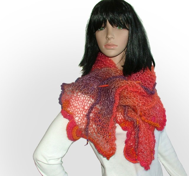 Calypso - scarf Competition - 2nd prize winner 2016 Maleny Knitfest