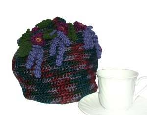 purple tea cosy