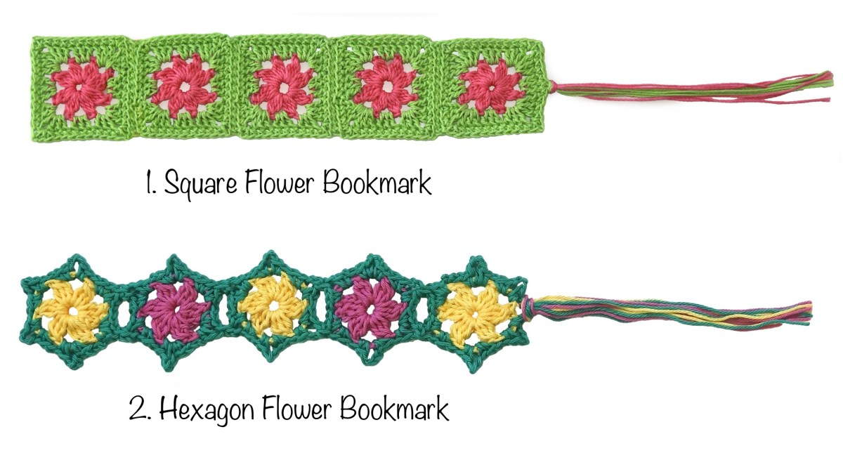 2 Free Crochet Bookmark Patterns in time for Gift Giving