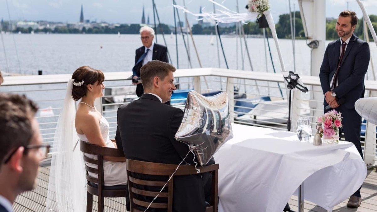 Traumhochzeit im hamburger Hafen - Hochzeit an der Alster