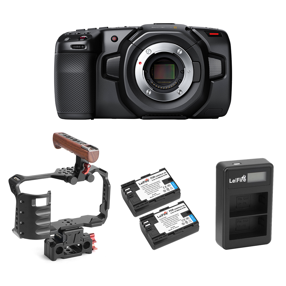 Camera+Cage+LP-e6x2+Charger