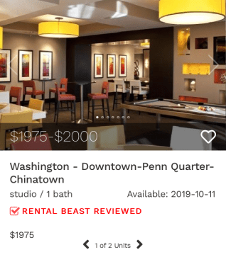 rent in downtown DC