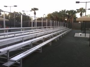 5-row bleachers without center aisle