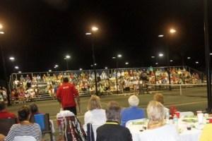 Bleachers for Tennis Event