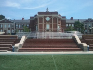 Bleachers for soccer games in Atlanta
