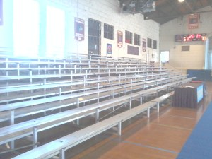 Indoor bleacher rental for television production