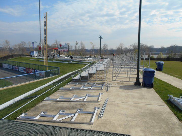 Bleachers for Rome Braves vs. Atlanta Braves Exhibition Game