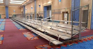 Indoor bleachers in Convention Center