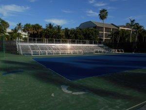 Tennis court bleacher rentals