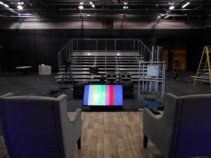 Indoor Bleacher Rental for Museum