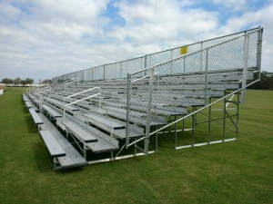 non-elevated bleachers