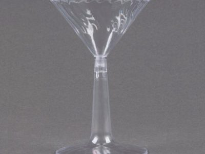 Dasposable Plastic Martini cups 6 oz