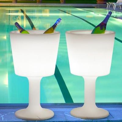 Glowing ice bucket rental