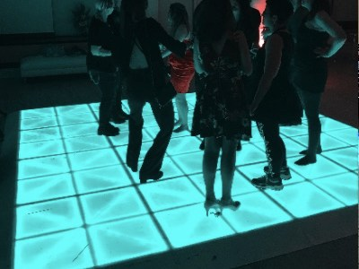 Glowing Dance floor rental