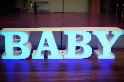 baby Letter table rental