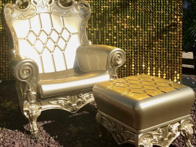 gold throne chair rental bronx