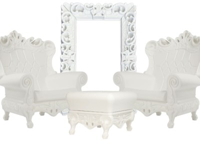 white chair rental for baby shower