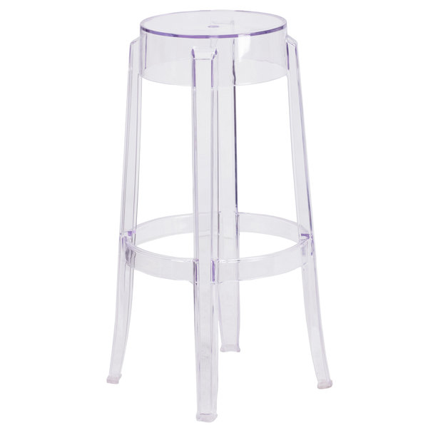 Swell Ghost Clear Backless Bar Stool Rental Rent For Event Nyc Ncnpc Chair Design For Home Ncnpcorg