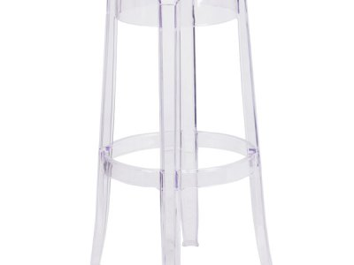 Ghost clear bar stools rental