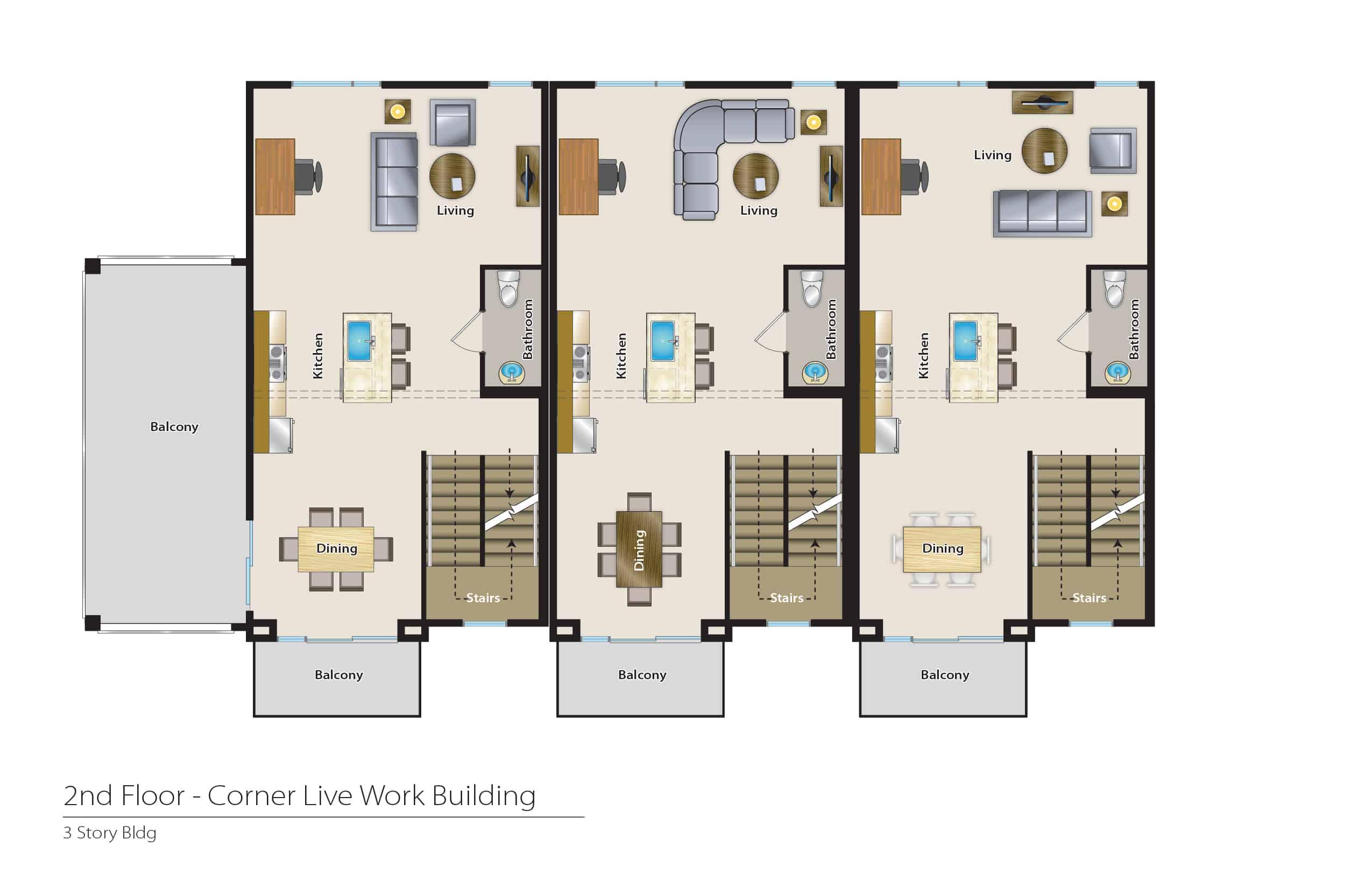 1612 Fulton - Plan C | Second Floor
