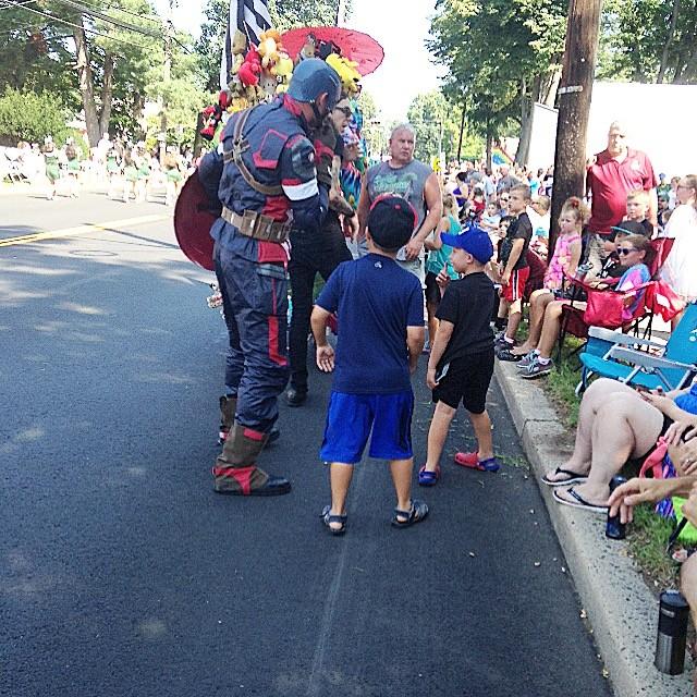 Captain America in the Labor Day Parade
