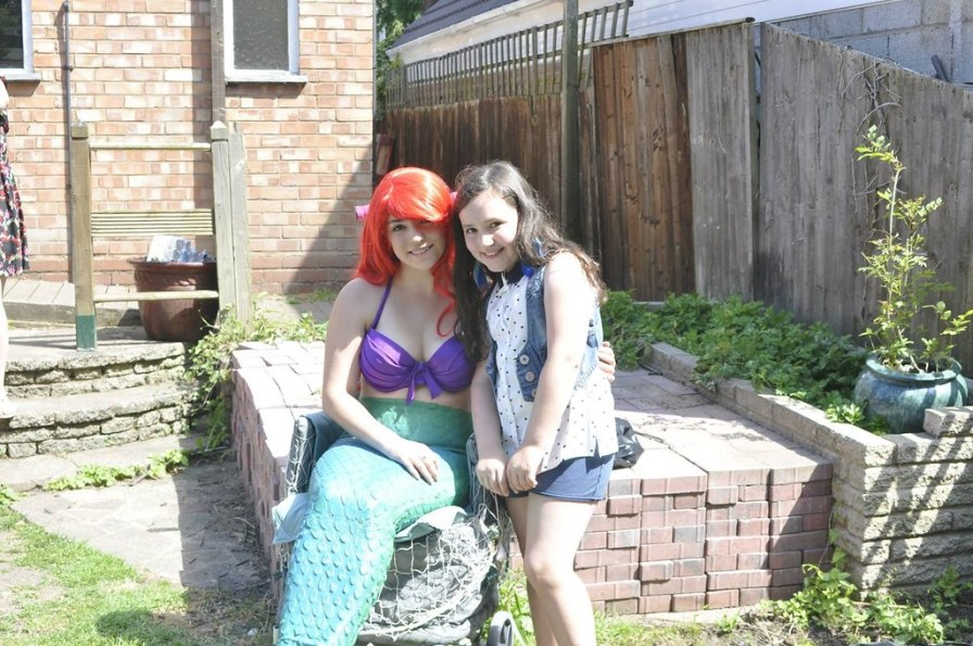 The Little Mermaid at pool party