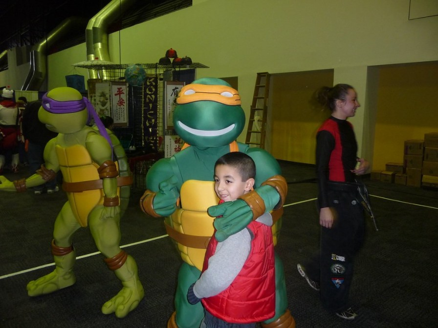 Ninja Turtles like to party
