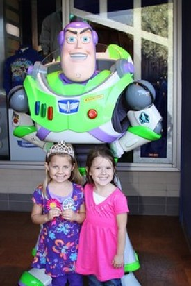 Buzz light year at kids party