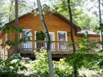 Deluxe 3 bdrm , 2 bath (2 Queens and 3 Twins), vaulted ceilings, large deck plus porch with awesome view of the lake!!!