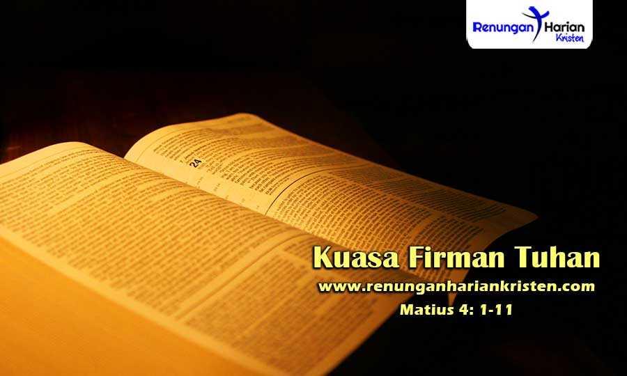 Renungan-Harian-Remaja-Matius-4-1-11-Kuasa-Firman-Tuhan