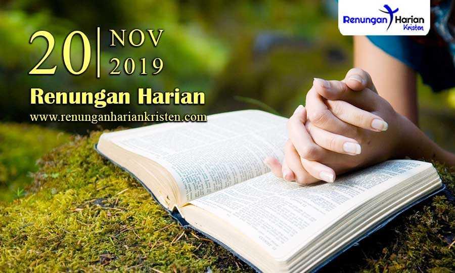 Renungan-Harian-Terbaru-20-November-2019