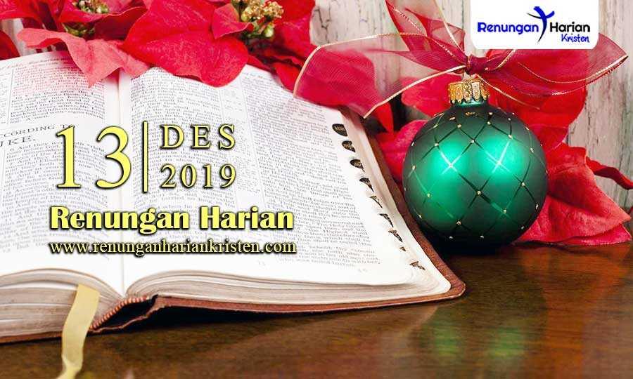 Renungan-Harian-Terbaru-13-Desember-2019