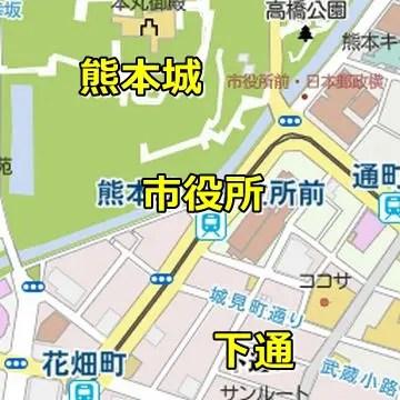 熊本城周辺マップ