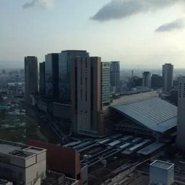 ザ・リッツ・カールトン大阪から見る梅田駅