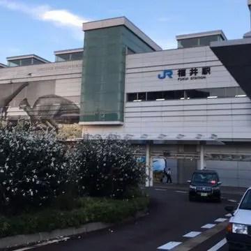 2019年夏の福井駅の18時
