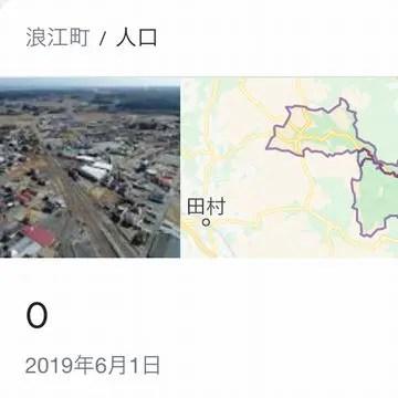 2019年6月時点の浪江町の人口