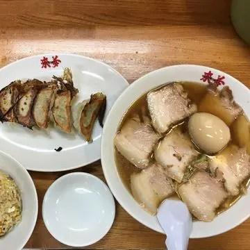 喜多方ラーメン来夢さんのチャーシュー麺セット