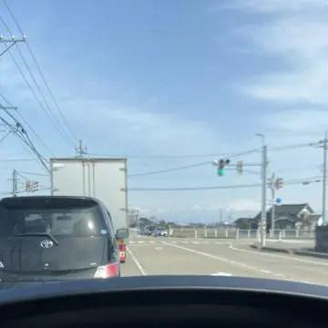 富山へむかう道