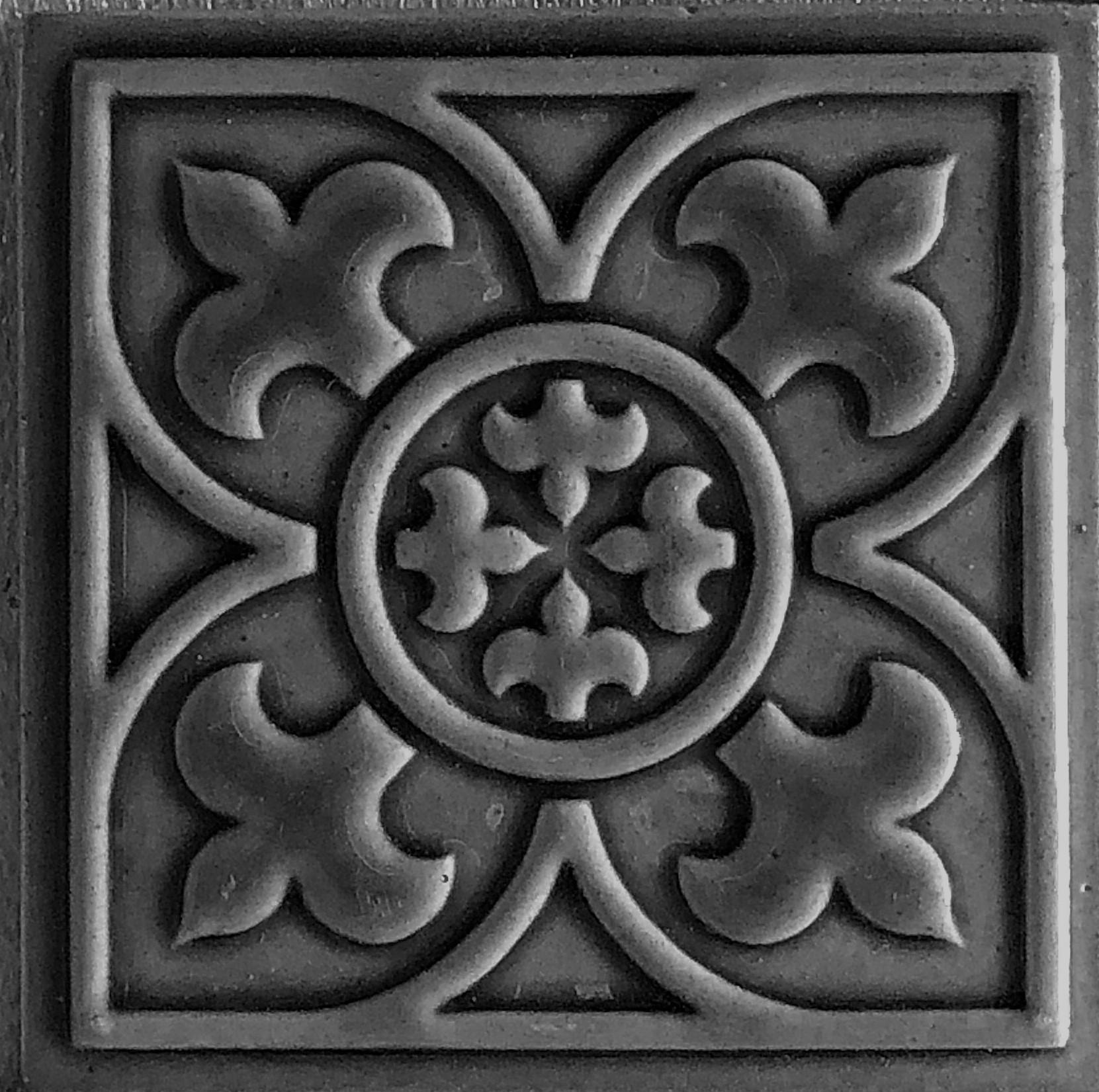 tudor 4x4 deco ceramic tiles handmade