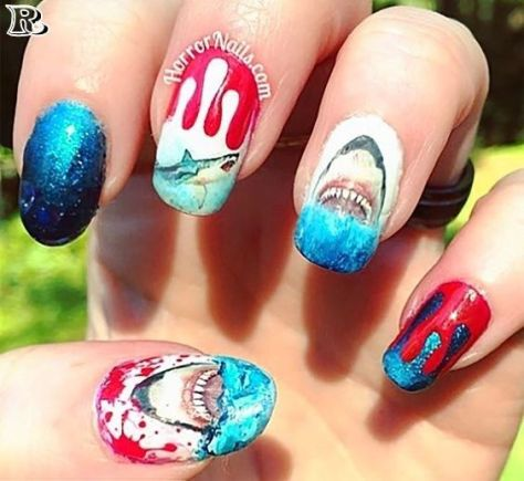 50 Shark Week Nail Art 2019