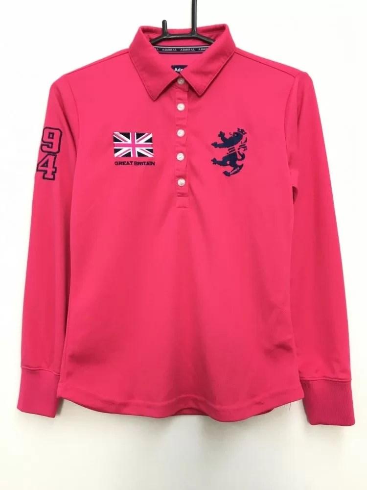 アドミラル 長袖ポロシャツ ピンク