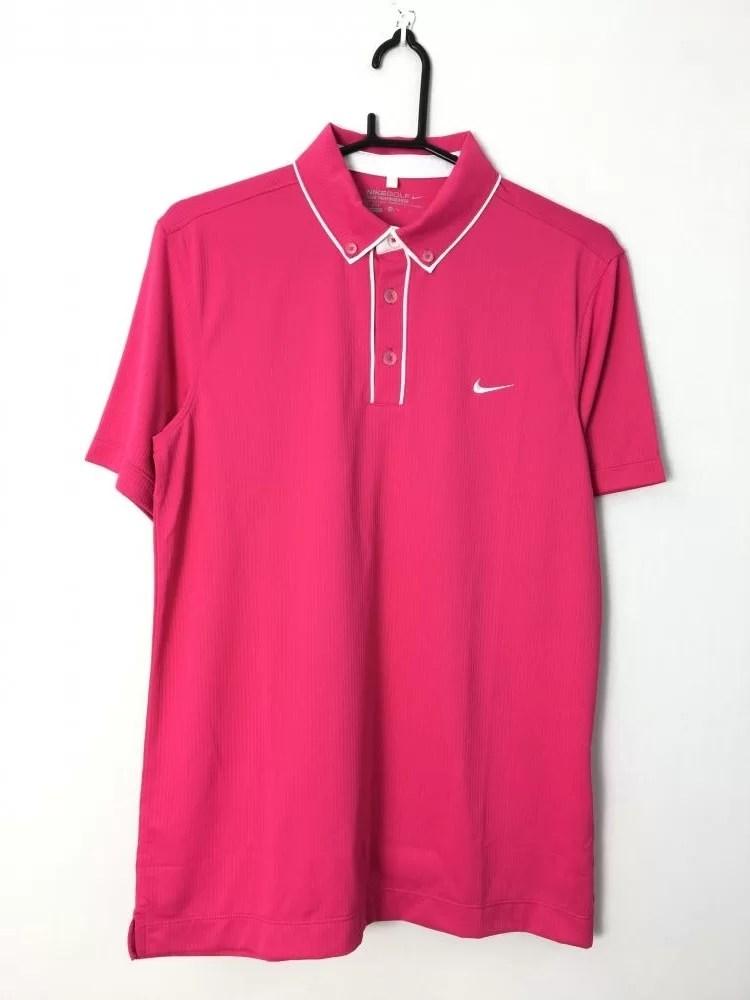 NIKEGOLF ナイキゴルフ 半袖ポロシャツ ピンク