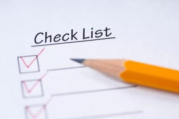 査定のためのチェックリスト