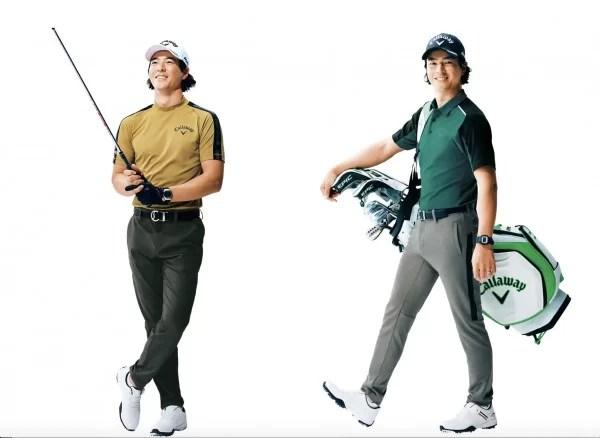 キャロウェイのゴルフウェアを着ている石川遼選手