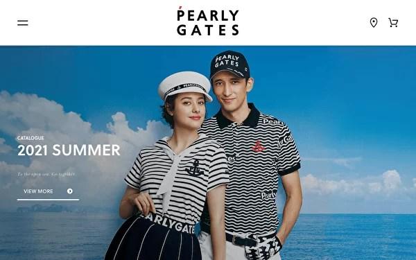 PEARLY GATES オフィシャルサイトのトップページ
