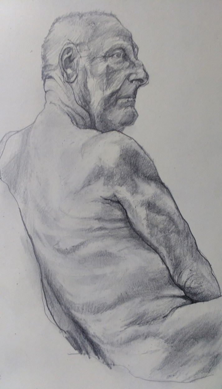 life drawing sketch male nude