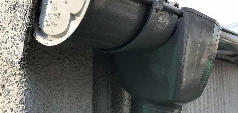 雨樋のジョイント部分は劣化しやすい