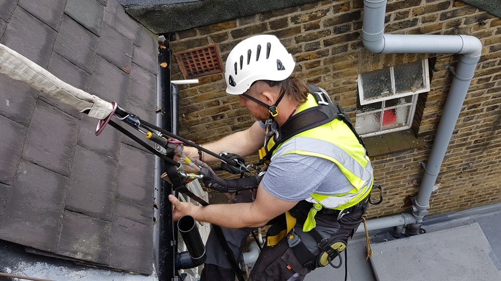 rope access gutter repair